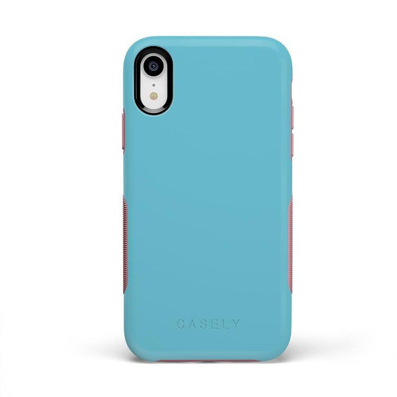 The Bold Collection - Cotton Candy Electric Blue on Pink iPhone Case get.casely Bold iPhone XR