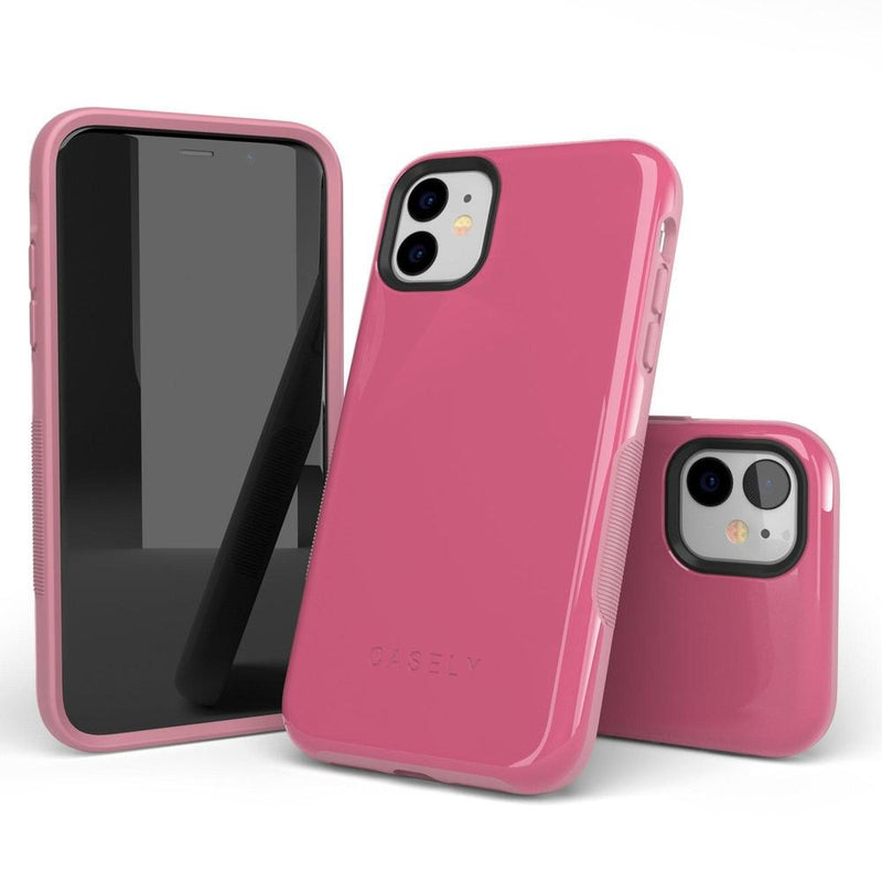 The Bold Collection - Dark Pink on Pink iPhone Case get.casely