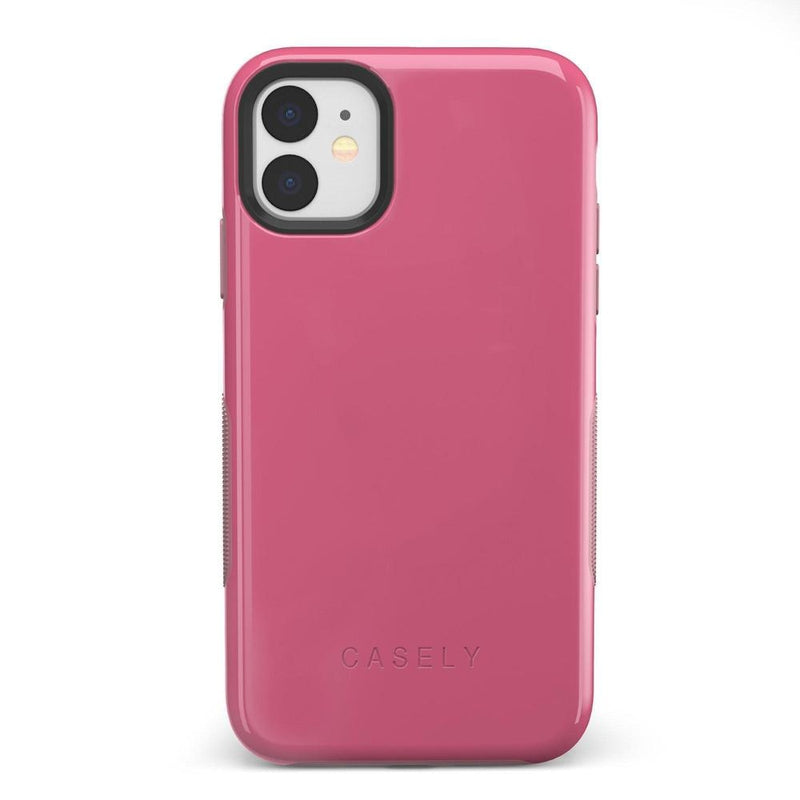 The Bold Collection - Dark Pink on Pink iPhone Case get.casely Bold iPhone 11