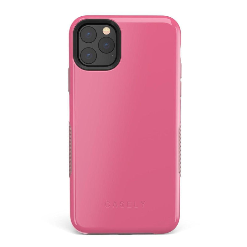The Bold Collection - Dark Pink on Pink iPhone Case get.casely Bold iPhone 11 Pro