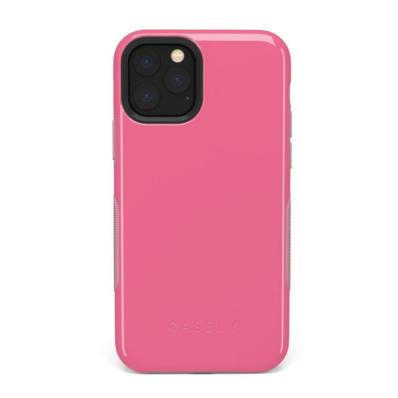 The Bold Collection - Dark Pink on Pink iPhone Case get.casely Bold iPhone 11 Pro Max