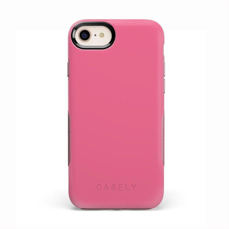The Bold Collection - Dark Pink on Pink iPhone Case get.casely Bold iPhone 6/6s