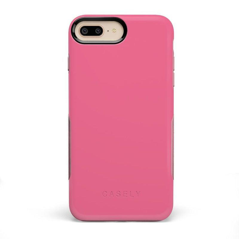 The Bold Collection - Dark Pink on Pink iPhone Case get.casely Bold iPhone 6/6s Plus