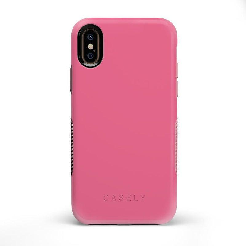 The Bold Collection - Dark Pink on Pink iPhone Case get.casely Bold iPhone X / XS