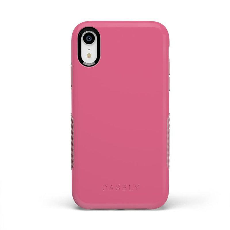 The Bold Collection - Dark Pink on Pink iPhone Case get.casely Bold iPhone XR