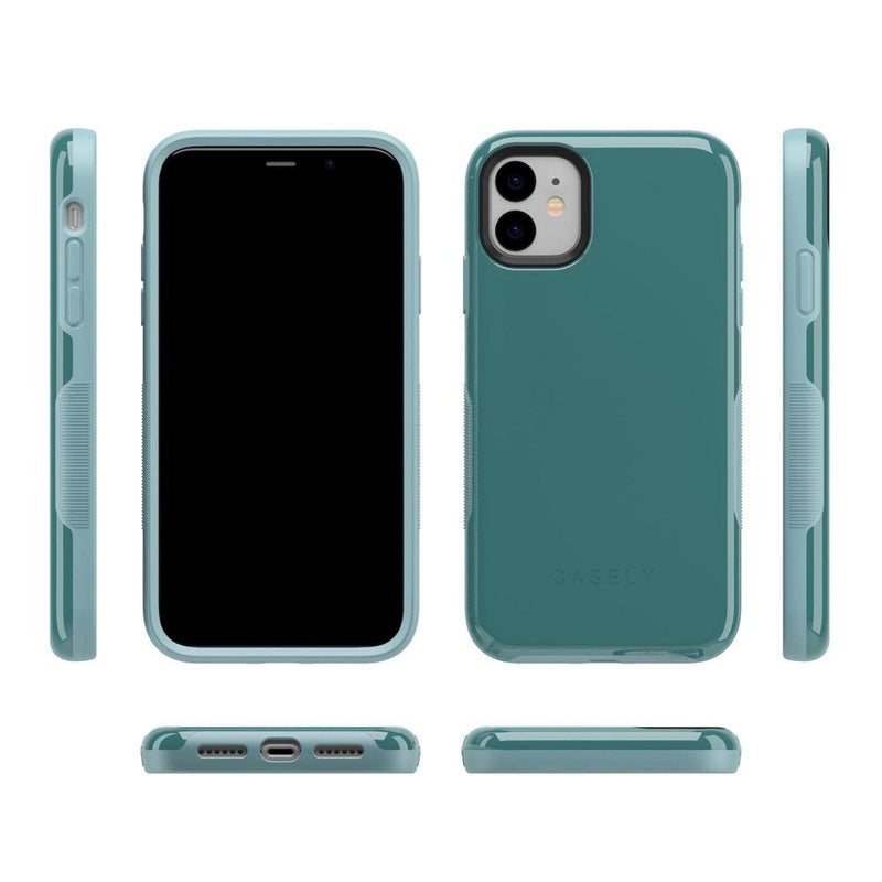 The Bold Collection - Dark Teal Blue on Aqua Mint iPhone Case get.casely