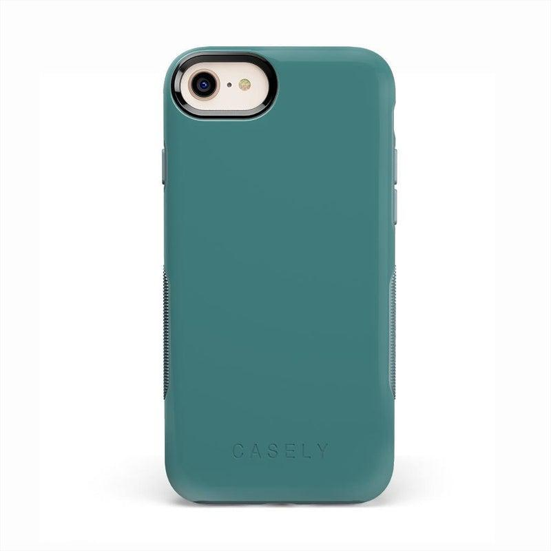 The Bold Collection - Dark Teal Blue on Aqua Mint iPhone Case get.casely Bold iPhone 6/6s
