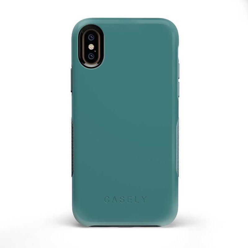 The Bold Collection - Dark Teal Blue on Aqua Mint iPhone Case get.casely Bold iPhone X / XS