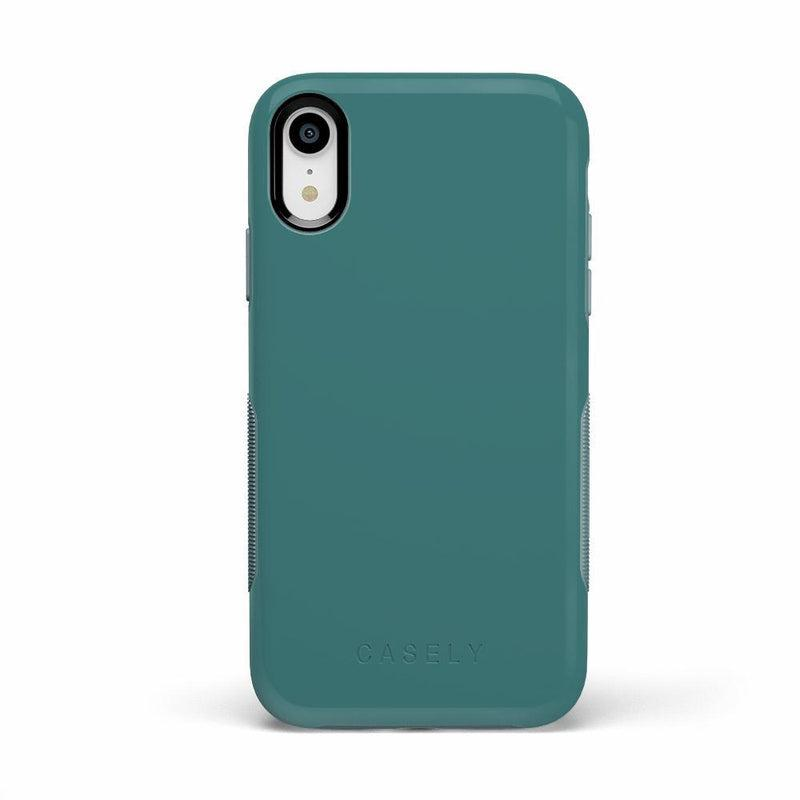 The Bold Collection - Dark Teal Blue on Aqua Mint iPhone Case get.casely Bold iPhone XR