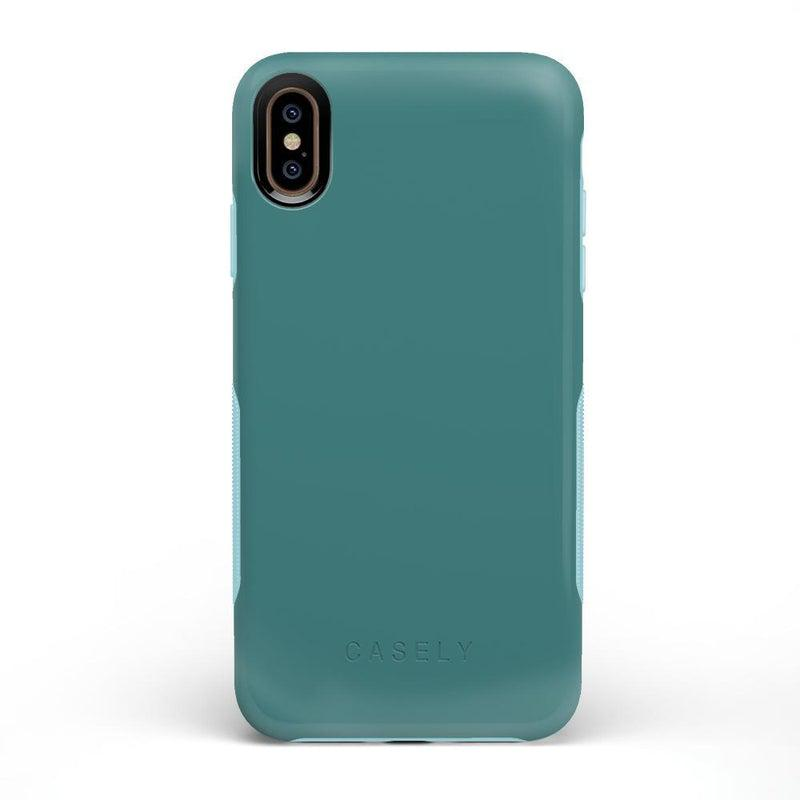 The Bold Collection - Dark Teal Blue on Aqua Mint iPhone Case get.casely Bold iPhone XS Max
