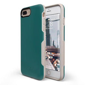 The Bold Collection - Deep Teal on Nude iPhone Case get.casely