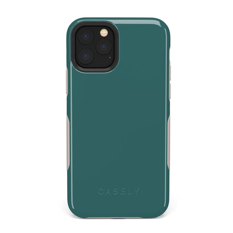 The Bold Collection - Deep Teal on Nude iPhone Case get.casely Bold iPhone 6/6s