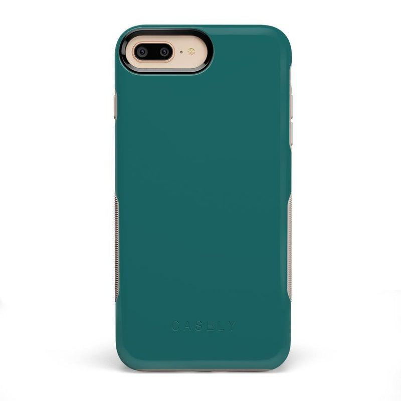 The Bold Collection - Deep Teal on Nude iPhone Case get.casely Bold iPhone 6/6s Plus