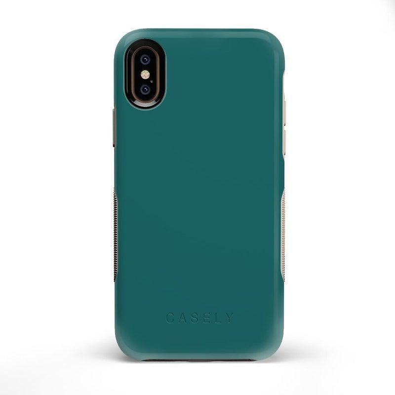 The Bold Collection - Deep Teal on Nude iPhone Case get.casely Bold iPhone X / XS