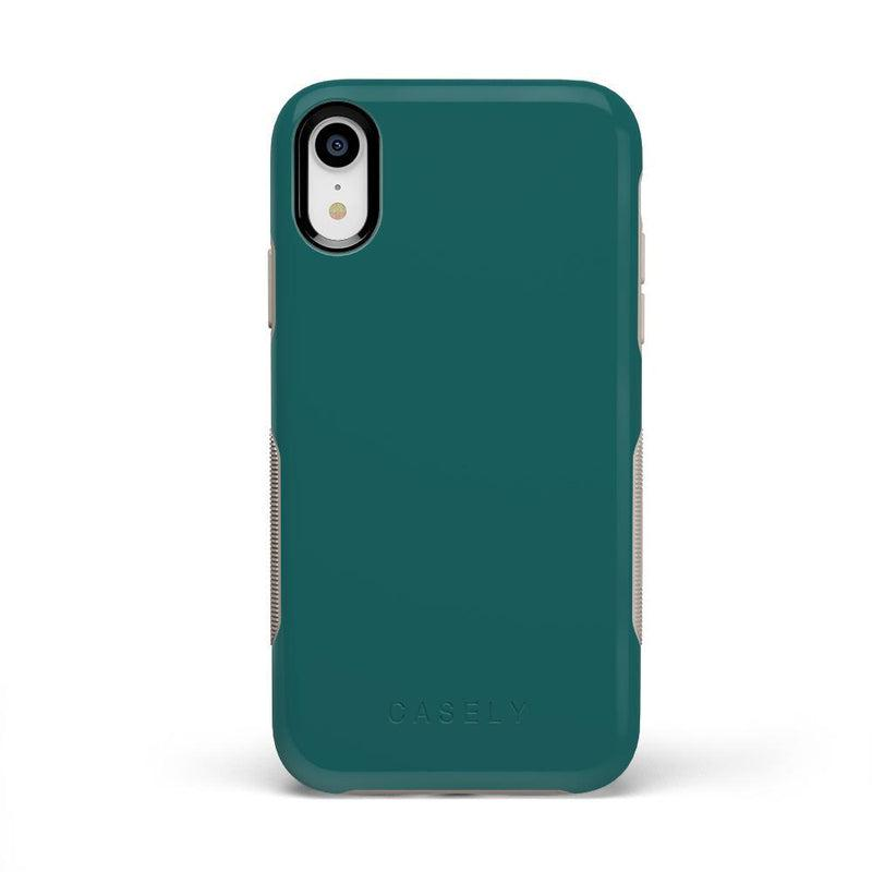 The Bold Collection - Deep Teal on Nude iPhone Case get.casely Bold iPhone XR