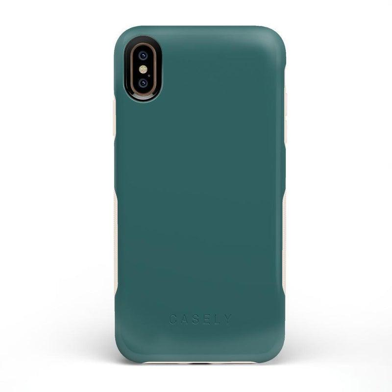 The Bold Collection - Deep Teal on Nude iPhone Case get.casely Bold iPhone XS Max