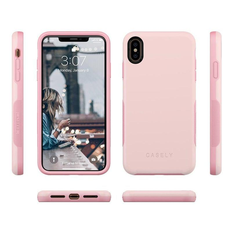 The Bold Collection - Light Pink on Pink iPhone Case get.casely
