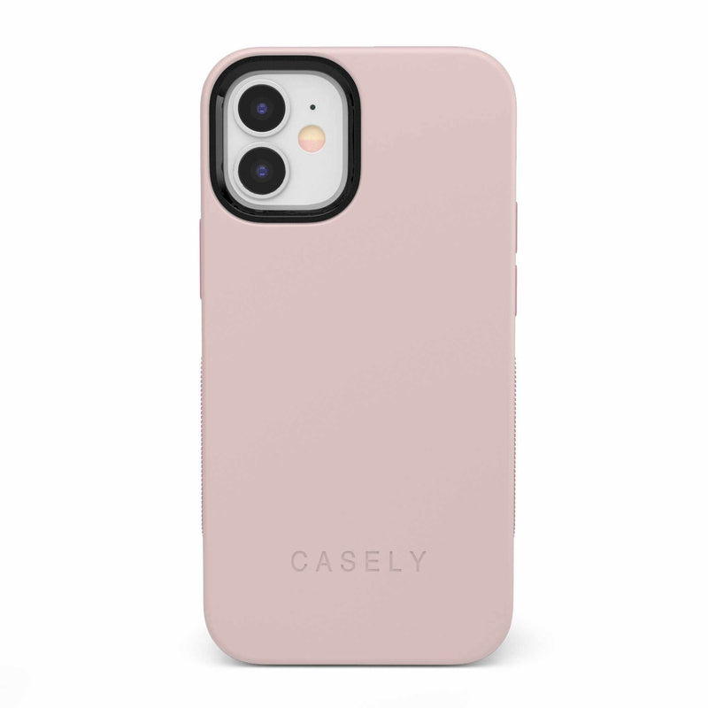 The Bold Collection - Light Pink on Pink iPhone Case get.casely Bold iPhone 12 Mini