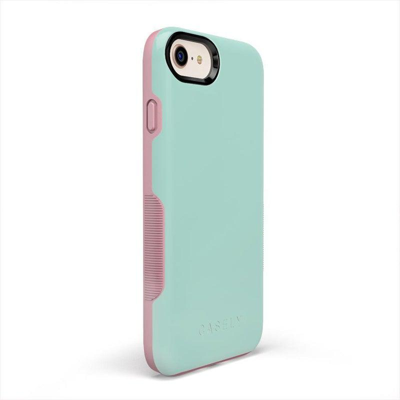 The Bold Collection - Mint Green on Pink iPhone Case get.casely