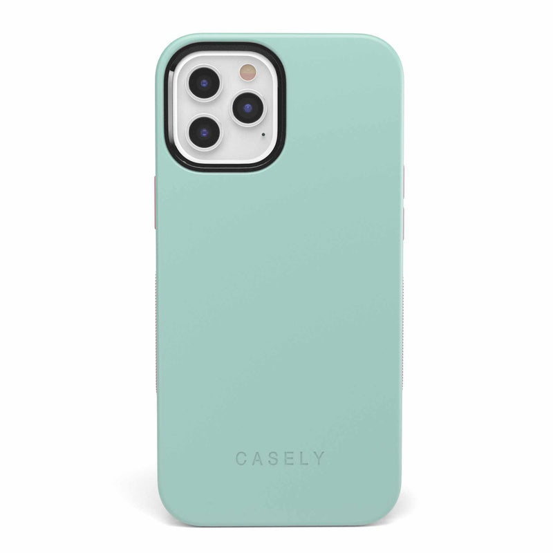 The Bold Collection - Mint Green on Pink iPhone Case get.casely Bold iPhone 6/6s