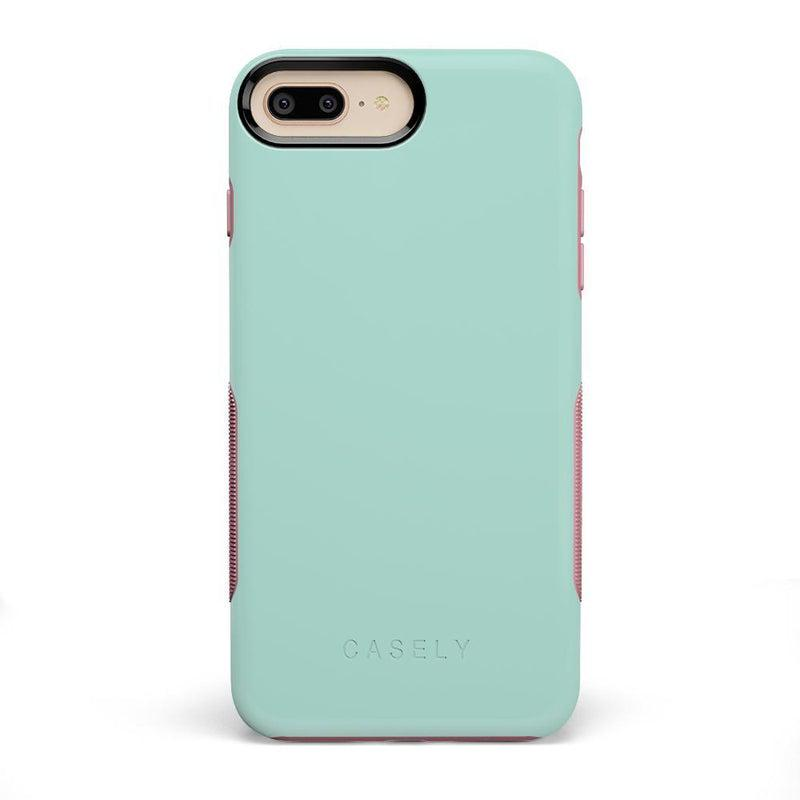 The Bold Collection - Mint Green on Pink iPhone Case get.casely Bold iPhone 6/6s Plus