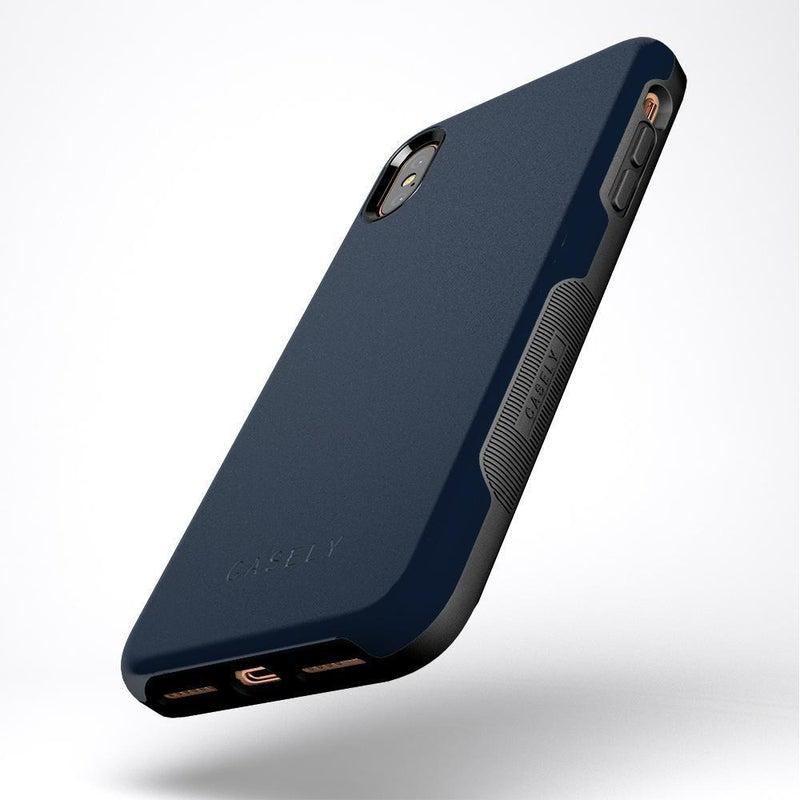 The Bold Collection - Navy on Black iPhone Case get.casely