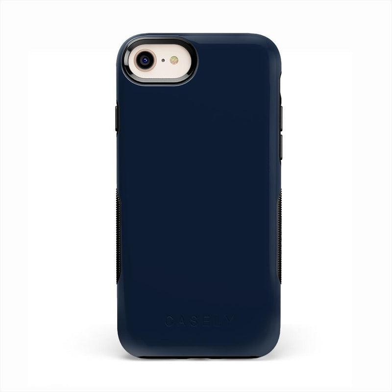 The Bold Collection - Navy on Black iPhone Case get.casely Bold iPhone 6/6s