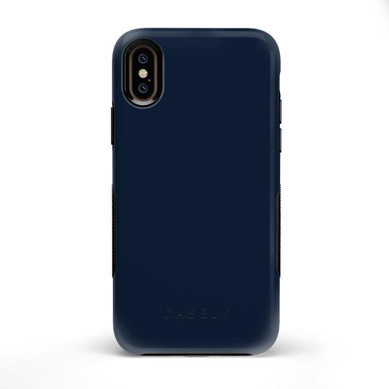 The Bold Collection - Navy on Black iPhone Case get.casely Bold iPhone X / XS
