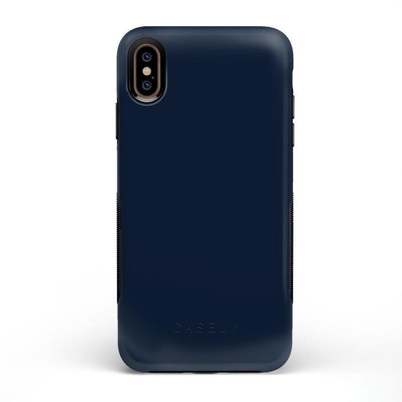 The Bold Collection - Navy on Black iPhone Case get.casely Bold iPhone XS Max