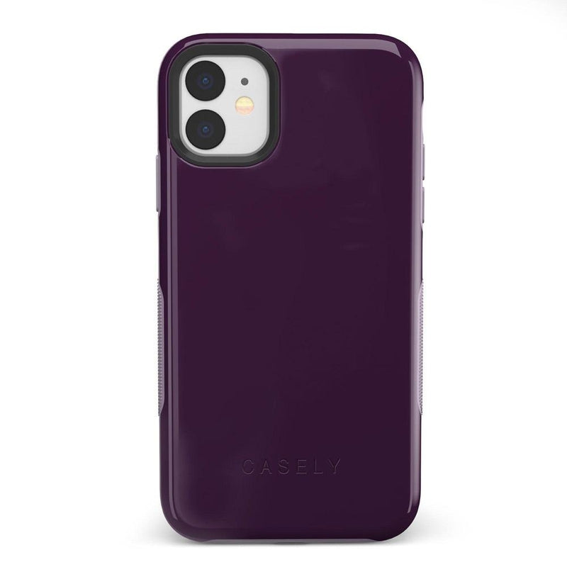 The Bold Collection - Plum Purple on Light Purple iPhone Case get.casely Bold iPhone 11