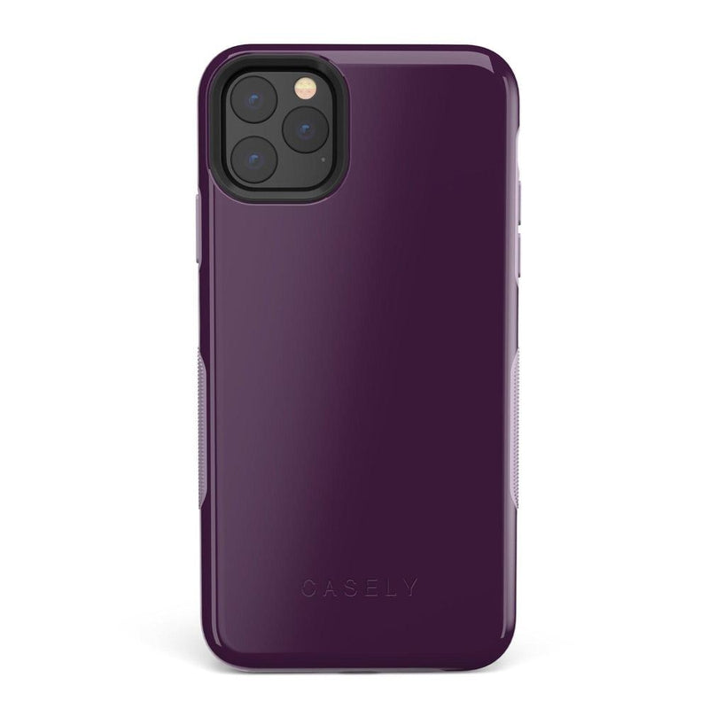 The Bold Collection - Plum Purple on Light Purple iPhone Case get.casely Bold iPhone 11 Pro