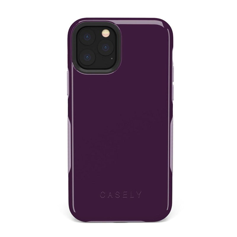 The Bold Collection - Plum Purple on Light Purple iPhone Case get.casely Bold iPhone 11 Pro Max