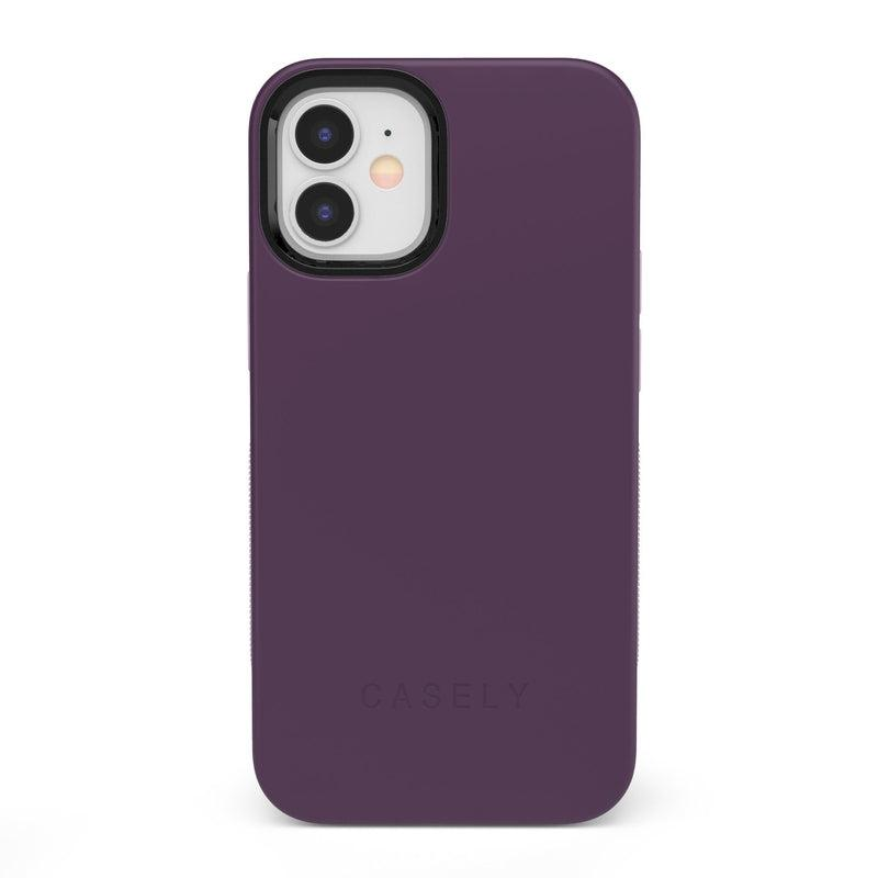 The Bold Collection - Plum Purple on Light Purple iPhone Case get.casely Bold iPhone 12 Mini