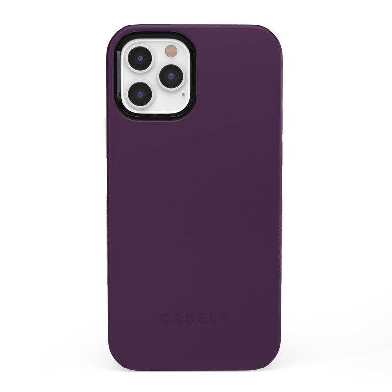 The Bold Collection - Plum Purple on Light Purple iPhone Case get.casely Bold iPhone 12 Pro