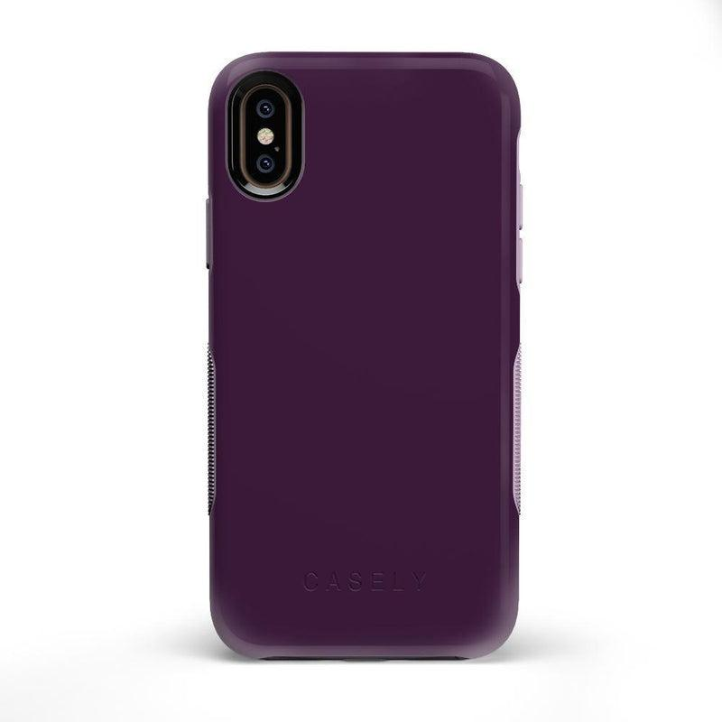The Bold Collection - Plum Purple on Light Purple iPhone Case get.casely Bold iPhone X / XS
