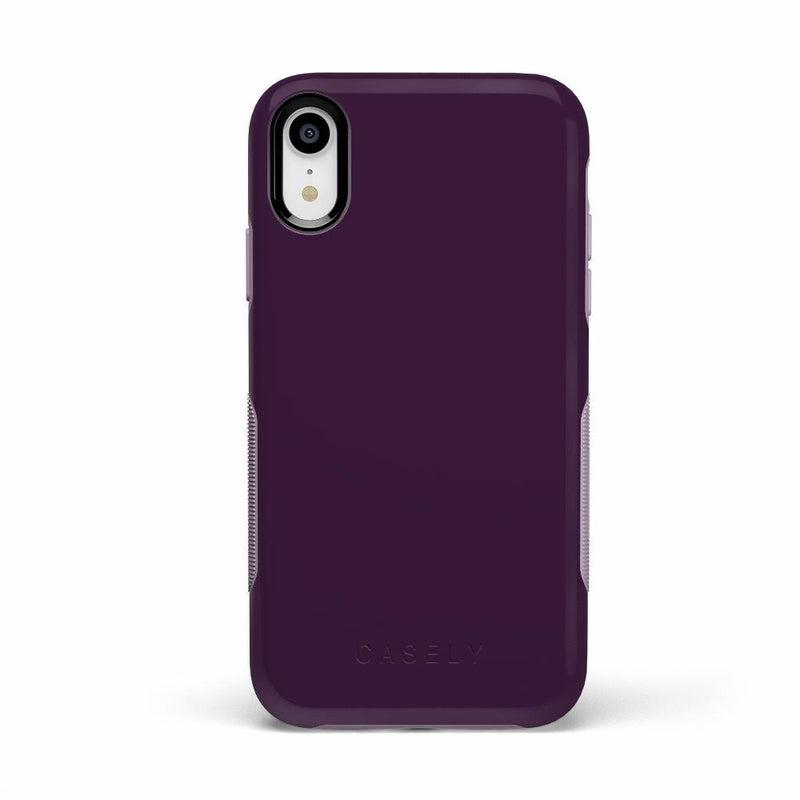 The Bold Collection - Plum Purple on Light Purple iPhone Case get.casely Bold iPhone XR