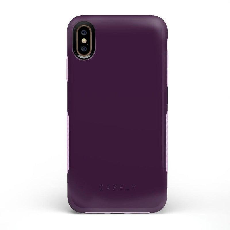 The Bold Collection - Plum Purple on Light Purple iPhone Case get.casely Bold iPhone XS Max