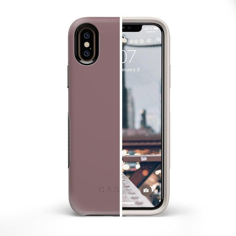 The Bold Collection - Purple Taupe on Nude iPhone Case get.casely