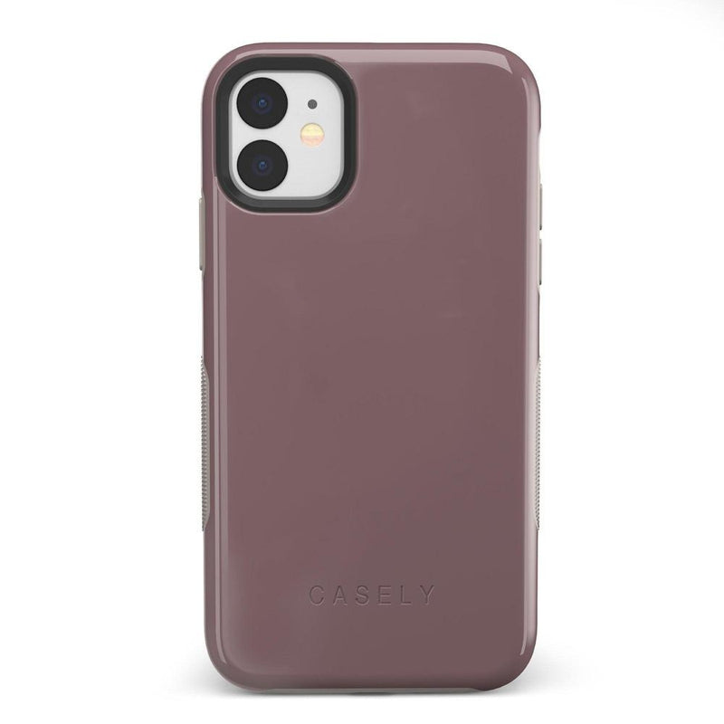 The Bold Collection - Purple Taupe on Nude iPhone Case get.casely Bold iPhone 11