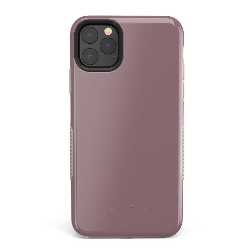 The Bold Collection - Purple Taupe on Nude iPhone Case get.casely Bold iPhone 11 Pro