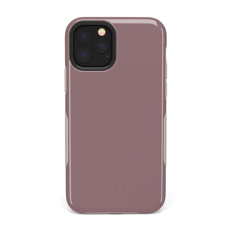 The Bold Collection - Purple Taupe on Nude iPhone Case get.casely Bold iPhone 11 Pro Max