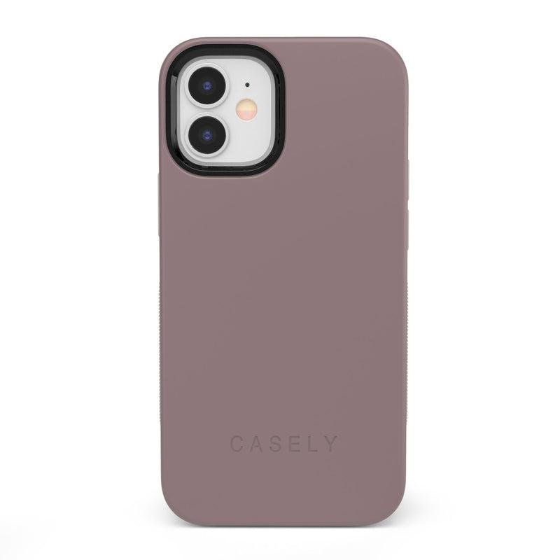 The Bold Collection - Purple Taupe on Nude iPhone Case get.casely Bold iPhone 12 Mini