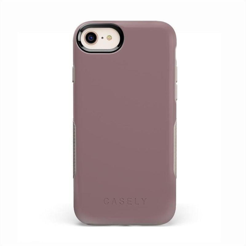 The Bold Collection - Purple Taupe on Nude iPhone Case get.casely Bold iPhone 6/6s