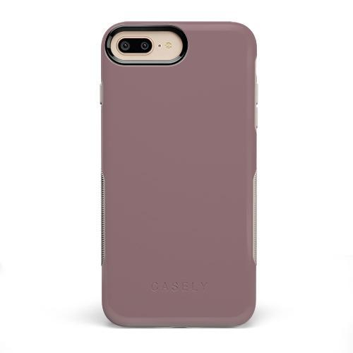 The Bold Collection - Purple Taupe on Nude iPhone Case get.casely Bold iPhone 6/6s Plus