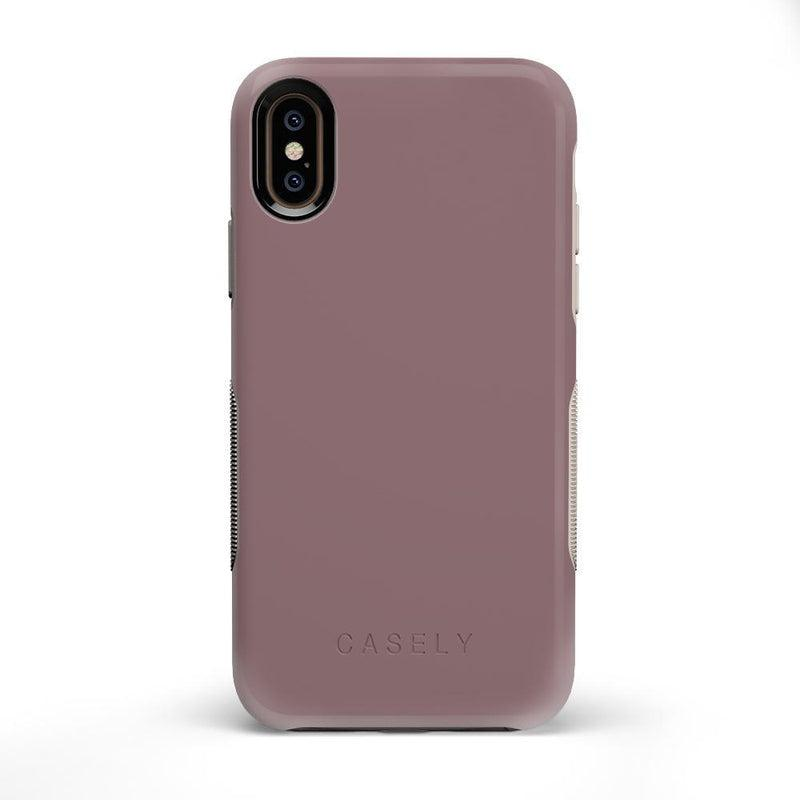 The Bold Collection - Purple Taupe on Nude iPhone Case get.casely Bold iPhone X / XS