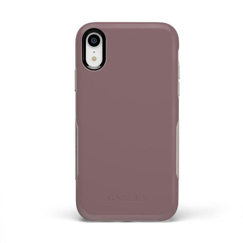 The Bold Collection - Purple Taupe on Nude iPhone Case get.casely Bold iPhone XR