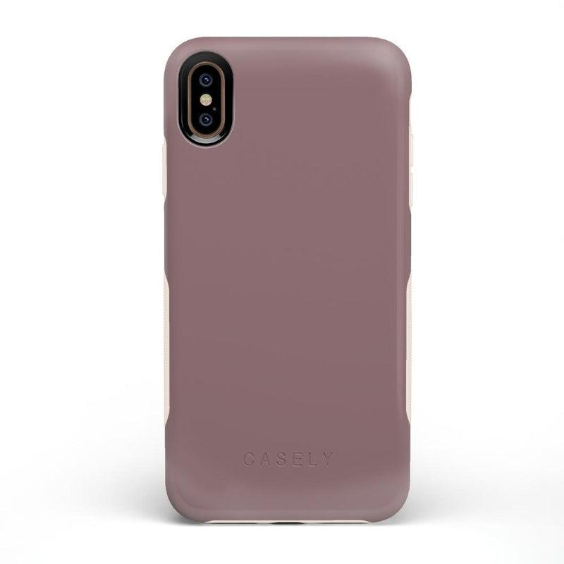 The Bold Collection - Purple Taupe on Nude iPhone Case get.casely Bold iPhone XS Max