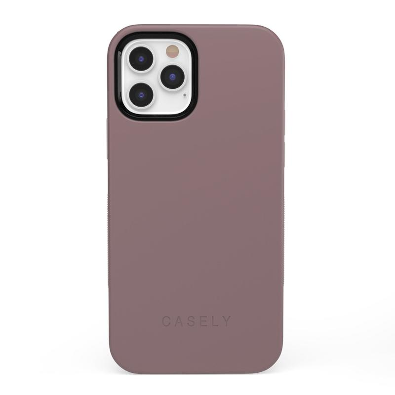 The Bold Collection - Purple Taupe on Nude iPhone Case get.casely Bold + MagSafe® iPhone 12 Pro