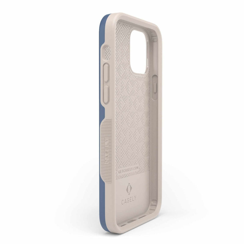 The Bold Collection - Steel Blue on Nude iPhone Case get.casely
