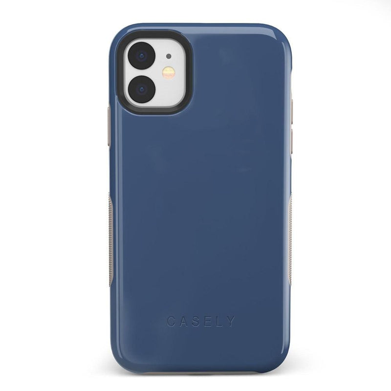 The Bold Collection - Steel Blue on Nude iPhone Case get.casely Bold iPhone 11